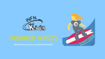 """""""Summer Waves"""" con immagine di bambina che fa surf"""