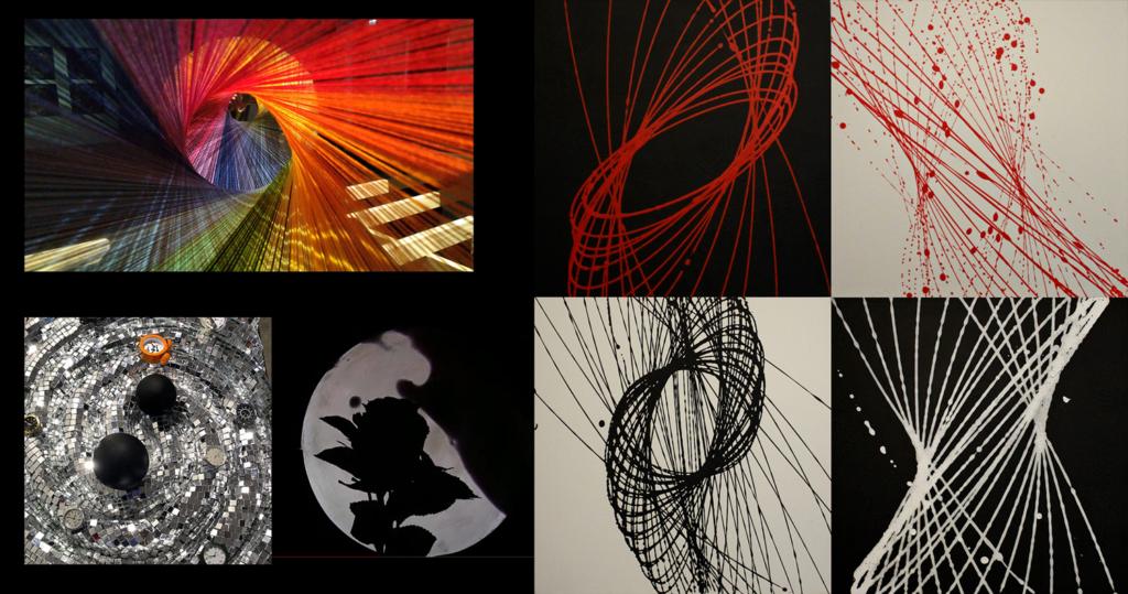 collage delle opere che sono arrivate al primo, secondo e terzo posto per la II edizione di A&S